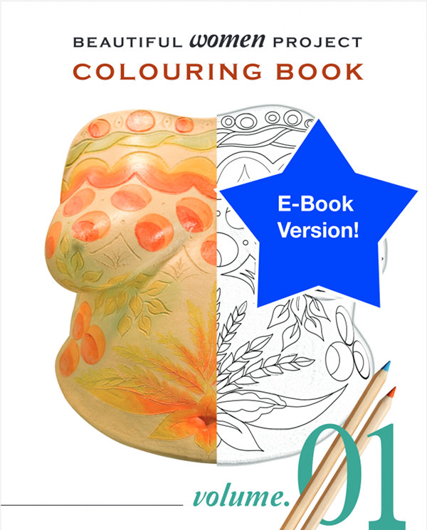Beautiful Women Project colouring E-book volume 1