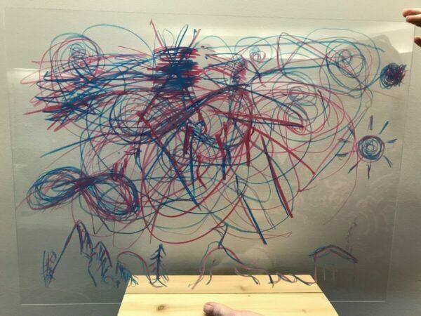 Plexiglass drawing